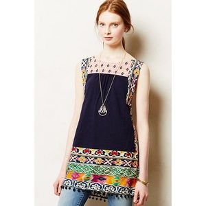 Anthropologie Tunic Embroidered Boho Size XS